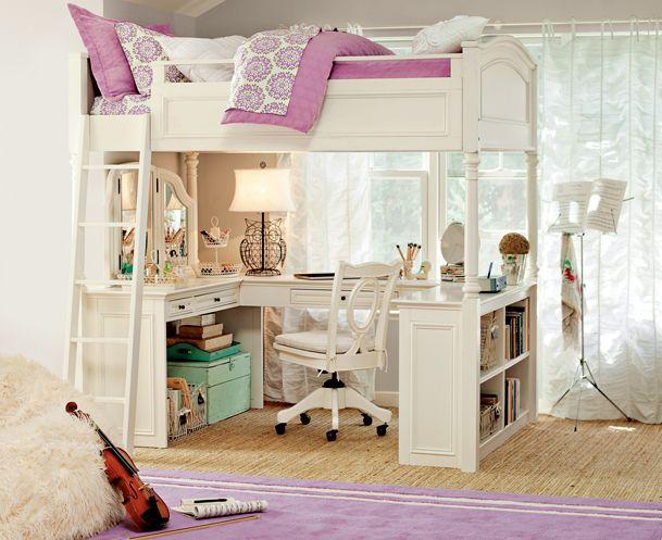 Best 25 girls loft bedrooms ideas on pinterest girl loft beds girls bedroom and cool kids beds - Beautiful bunk bed teens ...