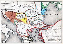 "Treaty of Berlin (1878)-The treaty formally recognized independence of the de facto sovereign principalities of Romania, Serbia and Montenegro, together with the autonomy of Bulgaria, though the latter de facto functioned independently and was divided into three parts: the Principality of Bulgaria, the autonomous province of Eastern Rumelia, and Macedonia, which was given back to the Ottomans, thus undoing Russian plans for an independent—and Russophile—""Greater Bulgaria""."