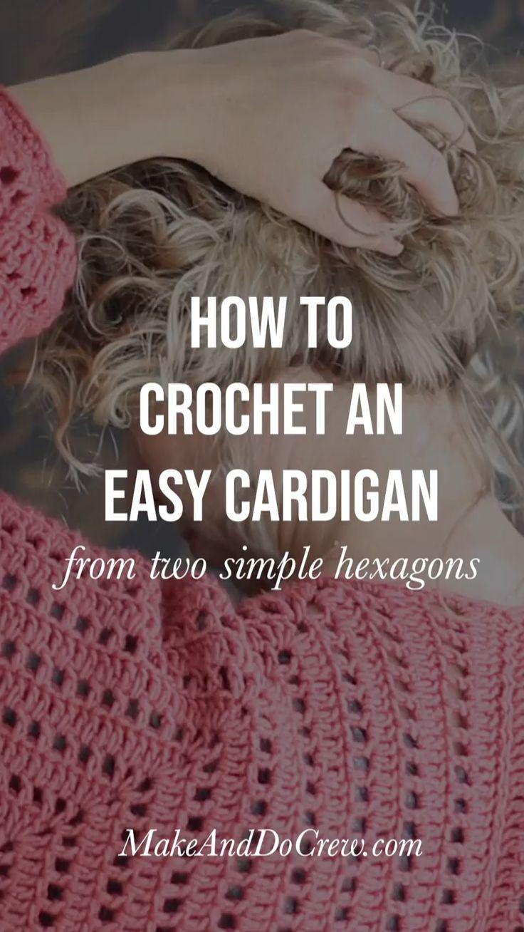 Easy Crochet Sweater – Free Pattern + Video Tutorial