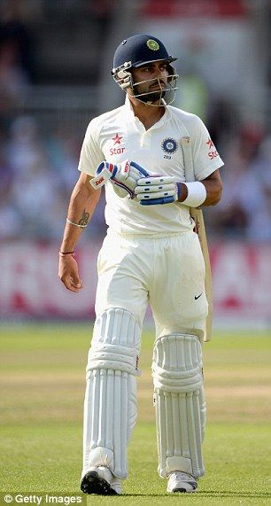 Tough day: Virat Kohli...