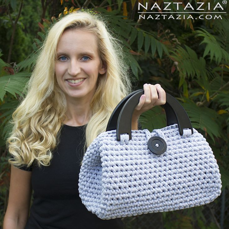 DIY Free Pattern and YouTube Tutorial Video Easy Crochet Casual Friday Handbag by Donna Wolfe from Naztazia - Purse Hand Bag Tote Bolsa Bolso