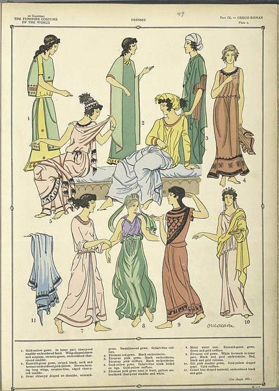 The beautiful lines of the Greek costumes ./ Paul Louis de Giafferri ([1926-1927])