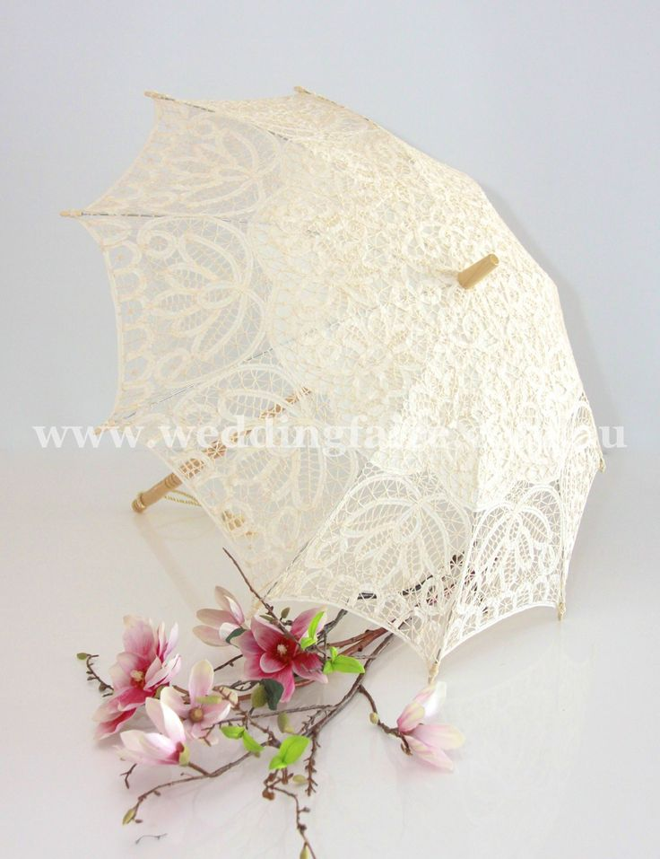 Childs Classic Lace Parasol - Cream - The Wedding Faire