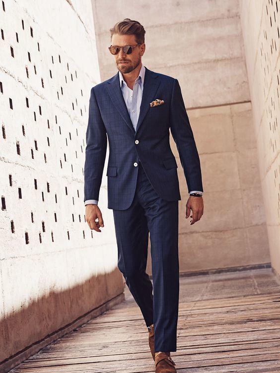 Best 25 blue check suit ideas on pinterest navy blue for Blue suit shirt ideas
