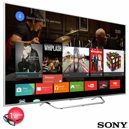 "Smart TV LED Sony 4K 55"" com Android TV e Wi-Fi                                                                                                                                                                                 More"