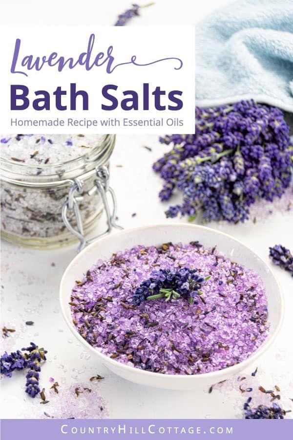 Homemade Lavender Bath Salts Recipe Free Printable Labels In 2020 Bath Salts Recipe Lavender Bath Salts Homemade Bath Products