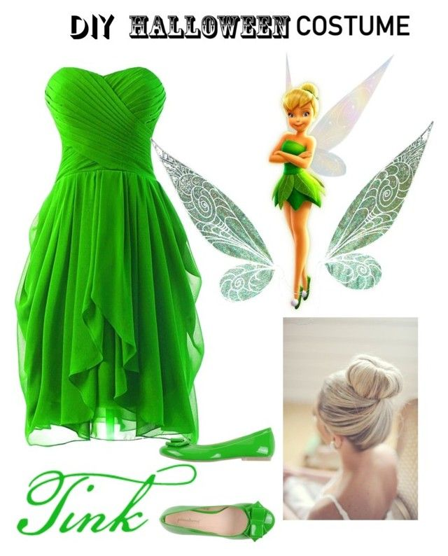 """Tinkerbell fancy dress"" by grace-grainne-corcoran ❤ liked on Polyvore featuring PrimaDonna, halloweencostume and DIYHalloween"