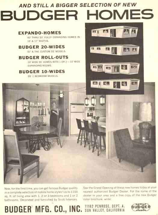 1963 Budger Expando Homes