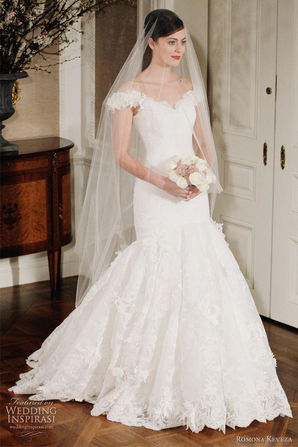 romona keveza 2012 legends bridal collection - portrait neckline wedding dress, wowee love the neckline xox