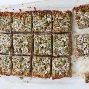 Granola bars look like a tasty snack to go with a cup of tea. More nutritious than a biscuit.
