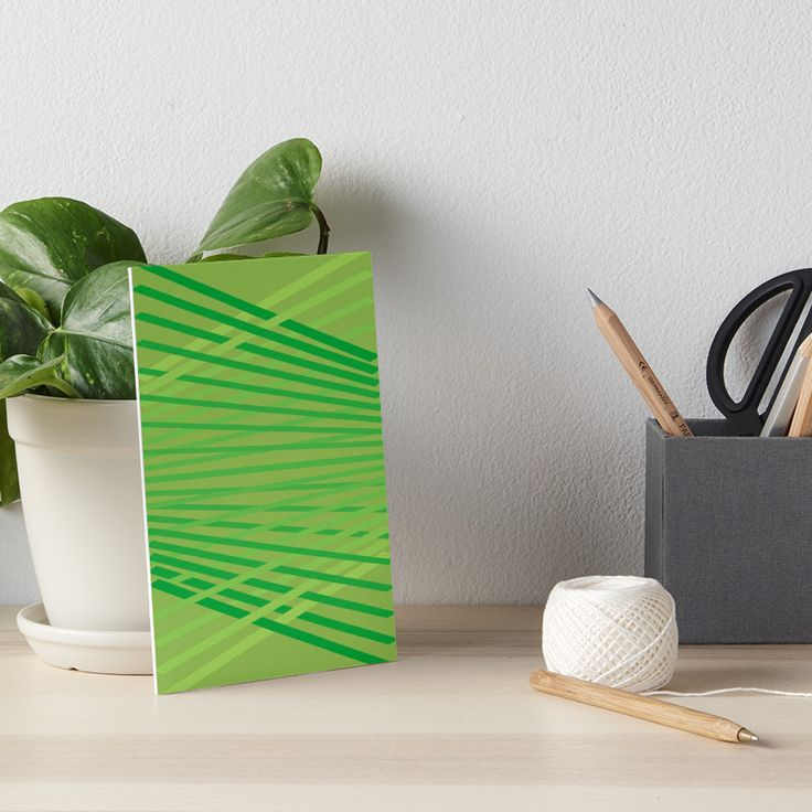 Green diagonals., in greenery green. • Also buy this artwork on wall prints, apparel, stickers, and more.