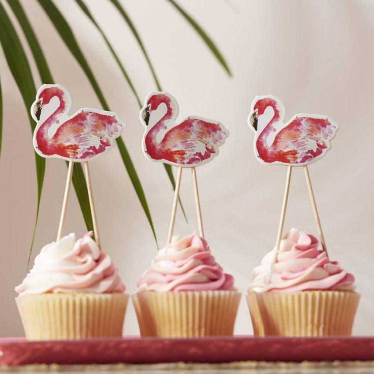 Flamingo Fun Cupcake Toppers (8 stuks) - Hieppp