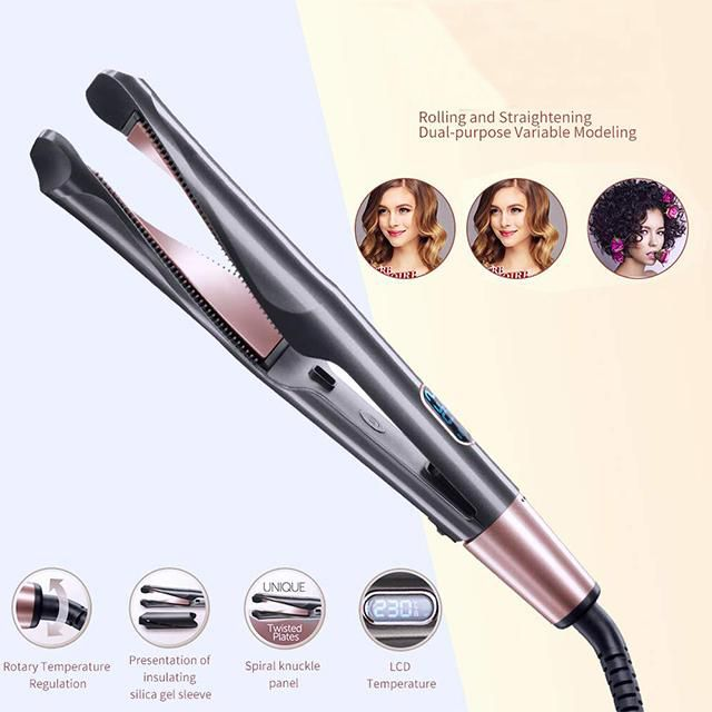 60 Off Now New Professional 2 In 1 Hair Curling Straightening Iro Virturaf Hair Curlers Flat Iron Hair Styles Hair Straightening Iron