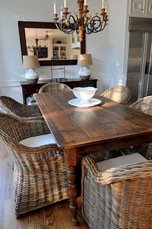 I Love This For A Dining Room The Chairs And Table Are Really Pretty But That Wicker Mainly Gives Casual Feel