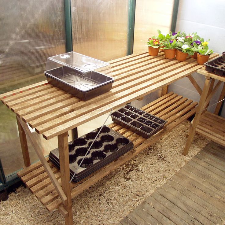 Trestle Staging Ideal for polytunnels and greenhouses in
