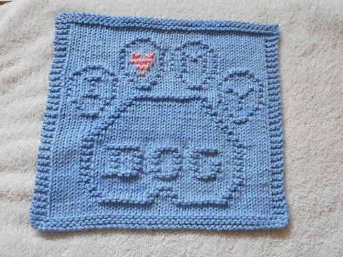 Ravelry: I Love My Dog Dishcloth pattern by Louise Sarrazin