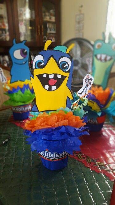 Birthday party #centerpieces #partyideas #slugterra #birthday #madeinHonduras…