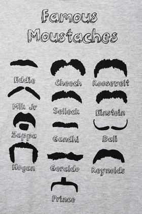 Moustaches Tee By Tee And Cake