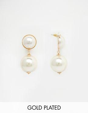Erin Elizabeth For Johnny Loves Rosie - Isobel - Pendants d'oreilles à fausse perle