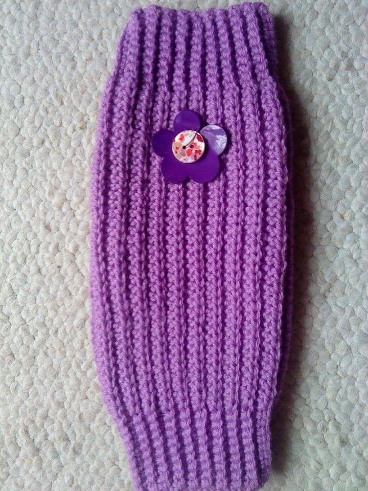 Free Knitting Patterns For Beginners Leg Warmers : I made Avrahs leg warmers from this! Leg warmers Crochet Tutorial - Easy...