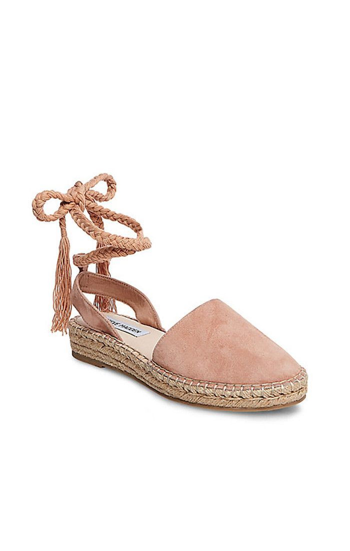 401f1d12ce9 Flat Sandals for Women. Steve Madden ~ Mesa Wrap Up Sandals ~ Nude Suede