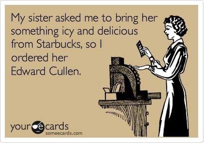 Edward Cullen Starbucks eCard