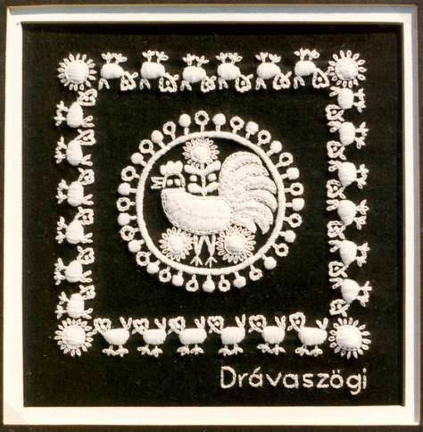 Drávaszög községeinek hímzése.