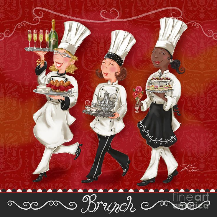 Lady Chefs - Brunch Mixed Media by Shari Warren - Lady Chefs - Brunch Fine Art Prints and Posters for Sale