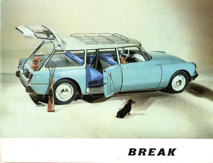 "fourleanhounds: "" Break 'em off some. 1960 Citroen DS station wagon ( ""break"" in French) via sonjasfotos. -R. """