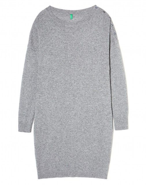 Shop Sweater dress Dark Gray for DRESSES at the official United Colors of Benetton online shop.