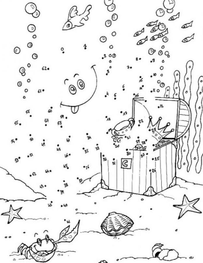 SEA LIFE Dot To Printable Connect The Dots Game Print Out And Color This
