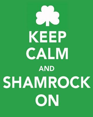 Keep Calm and Shamrock On Printables | freeprintables stpatricksday keepcalm