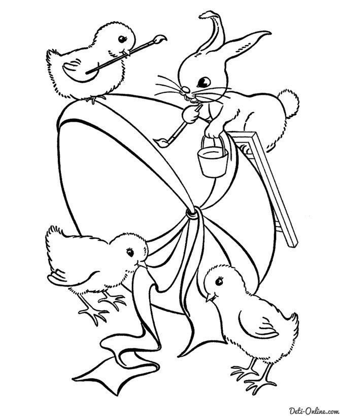 242 best Coloring Easter images on Pinterest Easter coloring - new easter coloring pages to do online