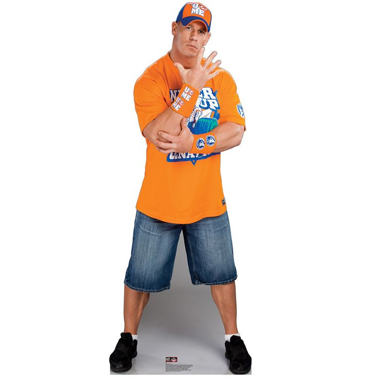 John Cena - WWE Standup Includes (1) standup. Weight (lbs) 3.8 Length (inches) 39 Width (inches) 29.5 Height(inches) 0.5