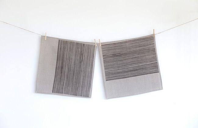 Handprinted Napkins, 45 x 45cm, 100% linen