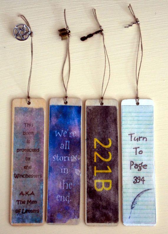Rustic Fandom Bookmarks by SplatterPalette on Etsy