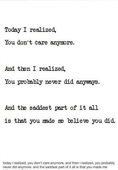 Nobody cares until something happens