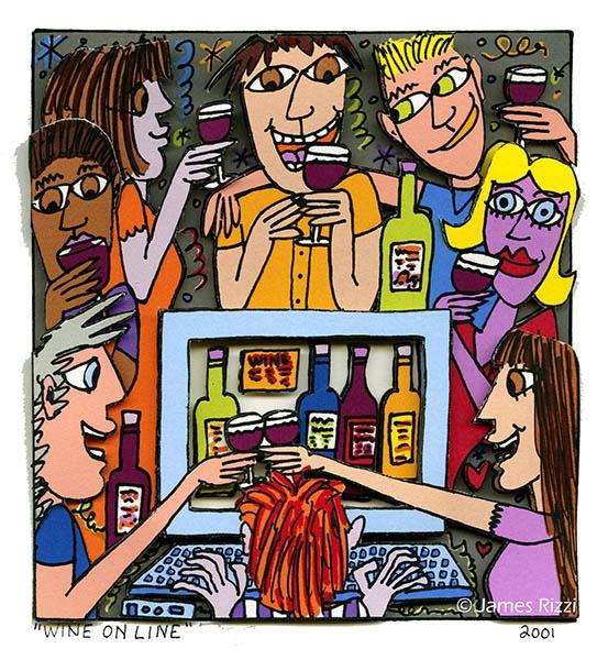 "James Rizzi ""Wine online"""