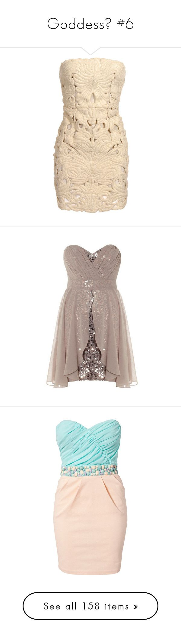 """""""Goddess🌸 #6"""" by moon-and-starss ❤ liked on Polyvore featuring dresses, vestidos, short dresses, haljine, cut out mini dress, beige cocktail dress, stella mccartney, cut out cocktail dresses, cutout mini dress and robes"""