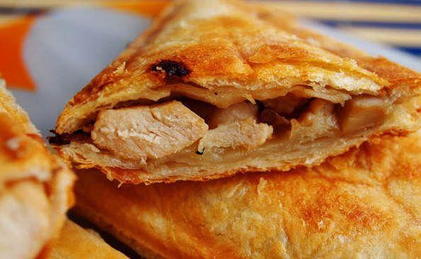 Бутерброд с курицей в сэндвичнице