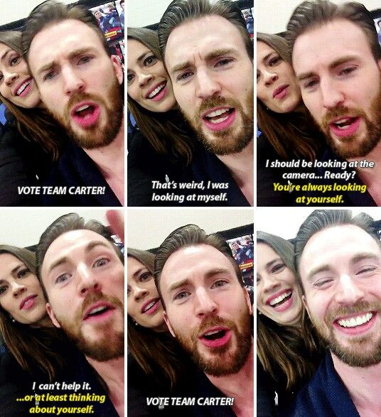 Chris Evans and Hayley Atwell interview ♡ I was at SLCC when they did this and I almost cried