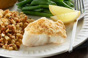 Easy Parmesan-Crusted Fish Dinner recipe