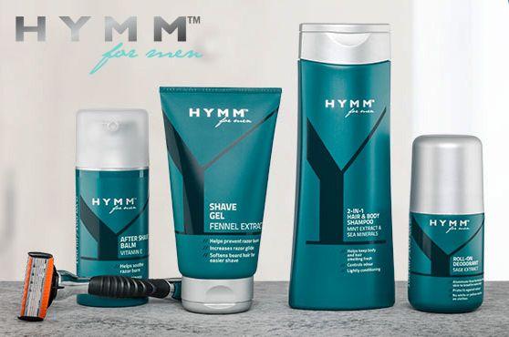 Este juego completo con los nuevos productos de la gama #HYMM incluye Gel de Afeitar HYMM, Bálsamo Después del Afeitado HYMM, Maquinilla de Afeitar con 5 Hojas HYMM, Desodorante Roll‑On HYMM y Champú y Gel de Ducha 2 en 1 HYMM. Kit todo en uno para las necesidades de aseo del hombre moderno.