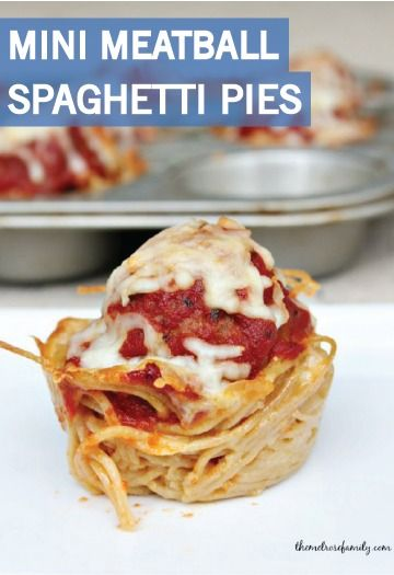 Transform your classic pasta into Mini Meatball Spaghetti Pies for a fun, kid-friendly dinner. They're simple to make and easy to serve to a crowd, so keep this recipe on hand for the holidays or the next slumber party you host for the kiddos.