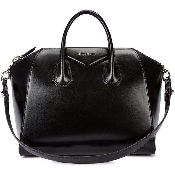 Womens Shoulder Bags Givenchy Antigona Medium Black Leather Tote found on Polyvore