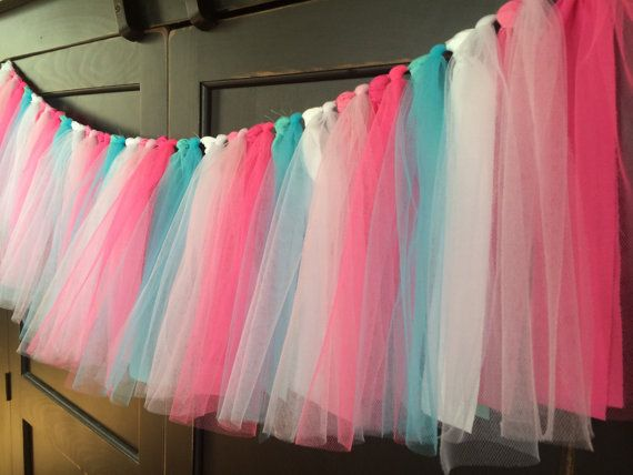 Love to make one for Lil A's Room Cotton Candy Shabby Rag Tie Fringe Garland by TheFrozenApple, $34.00