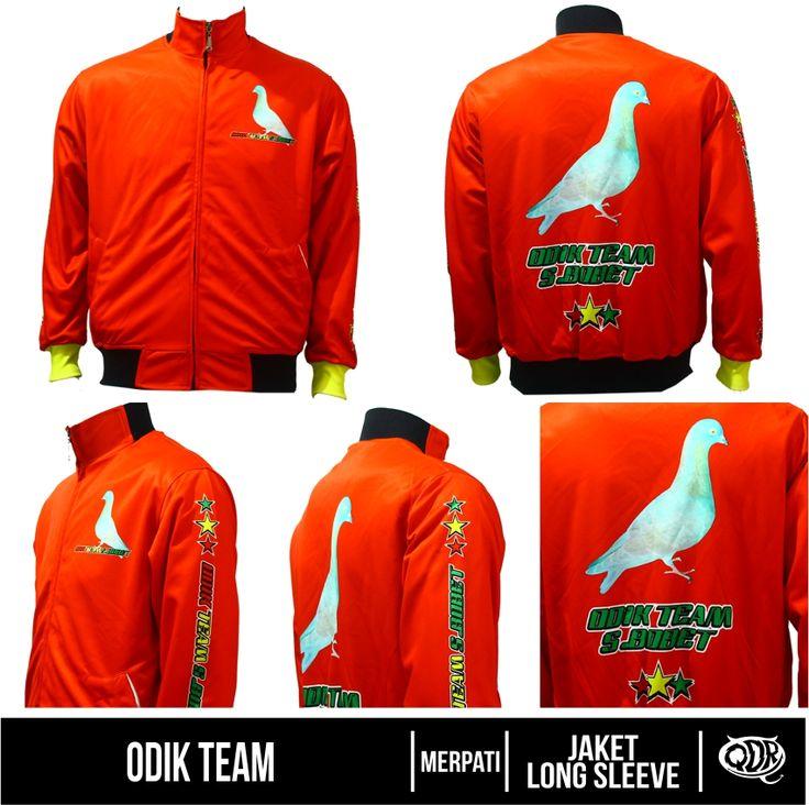 Odik Team (Jaket Merpati) Bahan: Dry-fit printing: sublimasi untuk pemesanan: BBM 543D3DBB Qdr online shop WA/LINE 081222970120