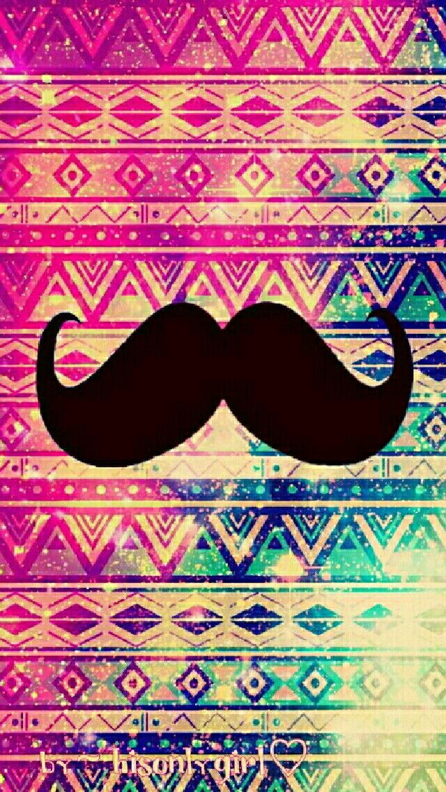 Vintage tribal moustache galaxy wallpaper I created for the app CocoPPa