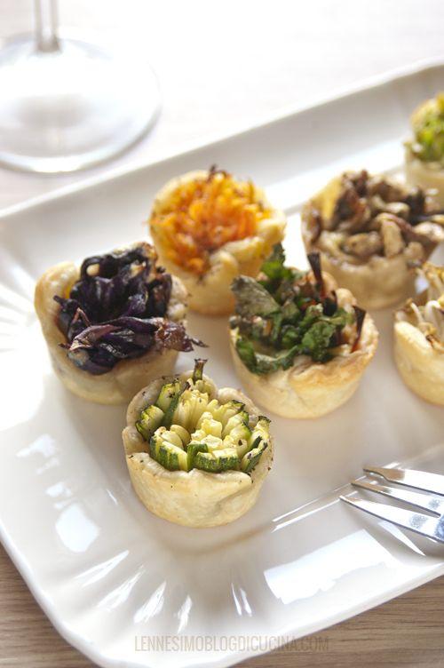 Mini bicchierini di pasta brisée e mix di verdure (veggie finger food) ©lennesimoblog