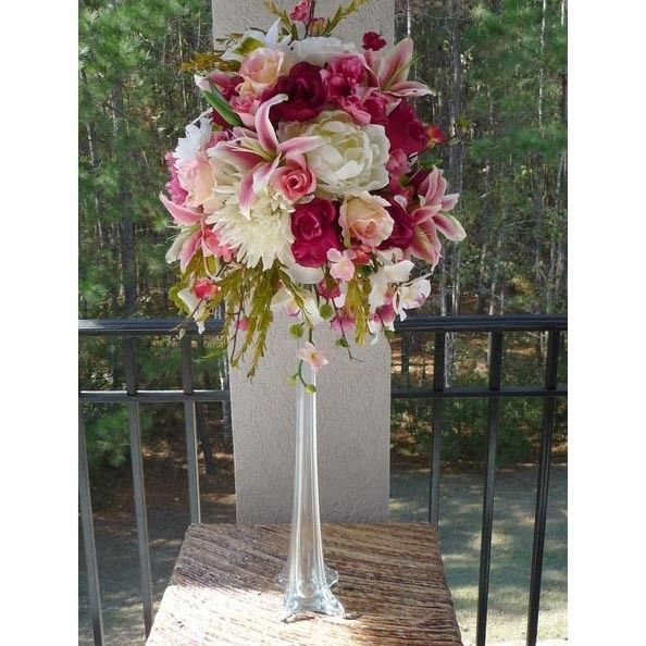 Tall Eiffel Glass Vase  White  Clear  Black  12 16 20 24 28 32 Inch  Vase  CenterpiecesCenterpiece  72 best The Eiffel Tower of Elegance Centerpiece images on  . Tall Flower Vases For Weddings. Home Design Ideas